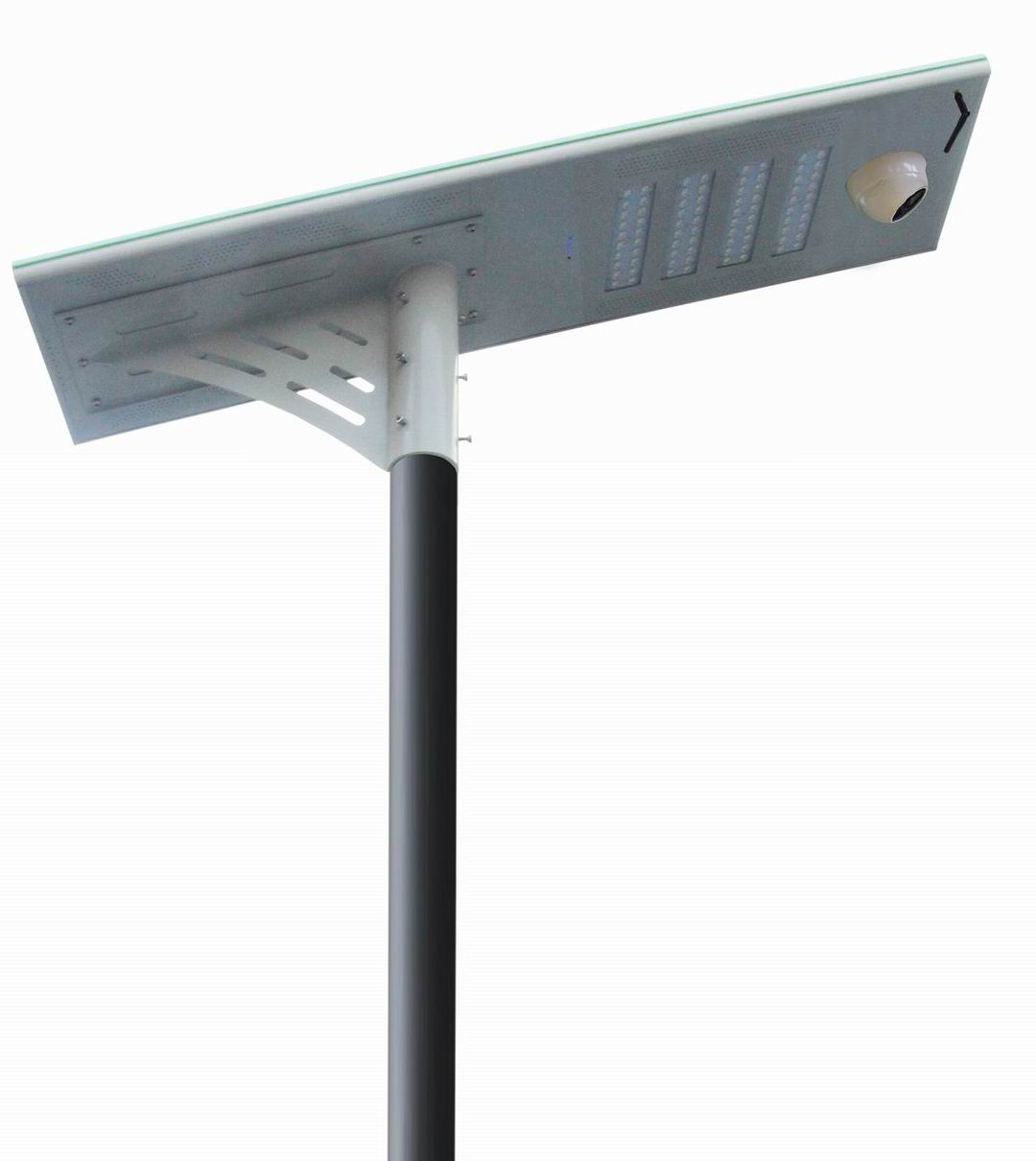 50W Solar LED Street Lamp with IP Camera
