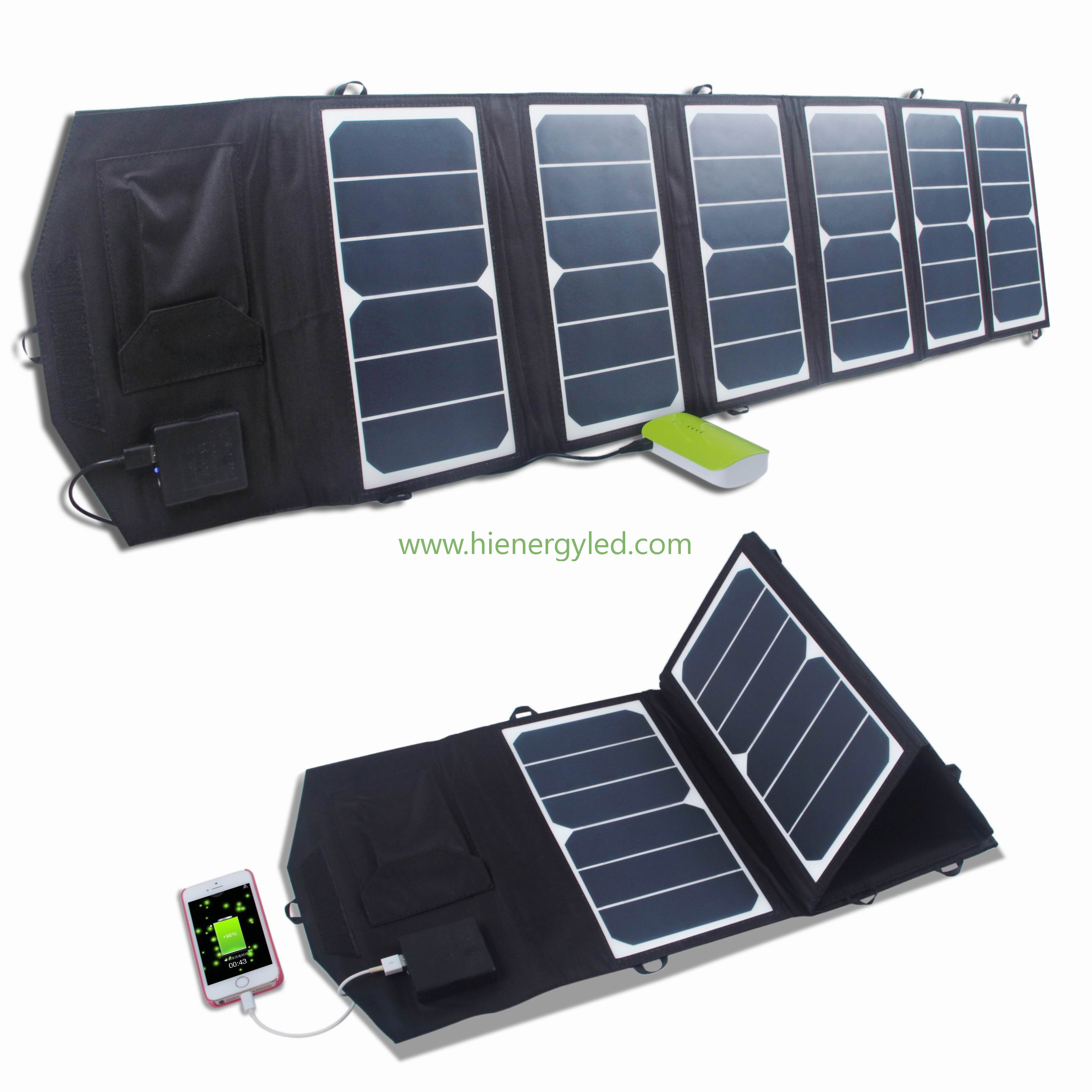 39W Folding Solar Panel Charger