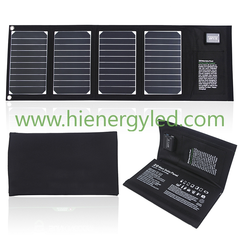 20W solar charger bag