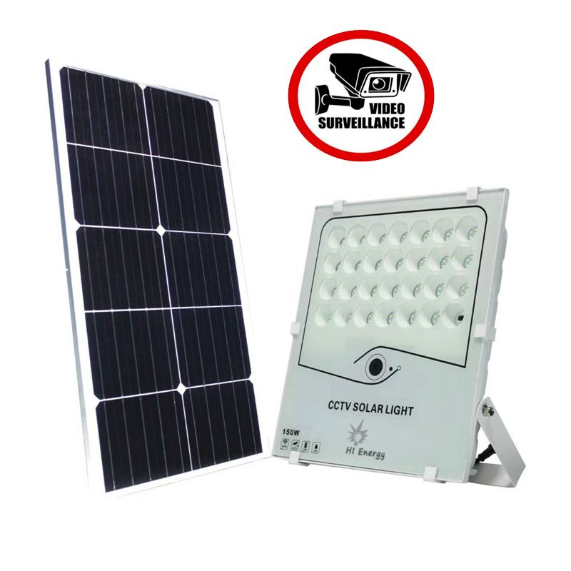 Solar Floodlight with CCTV Camera